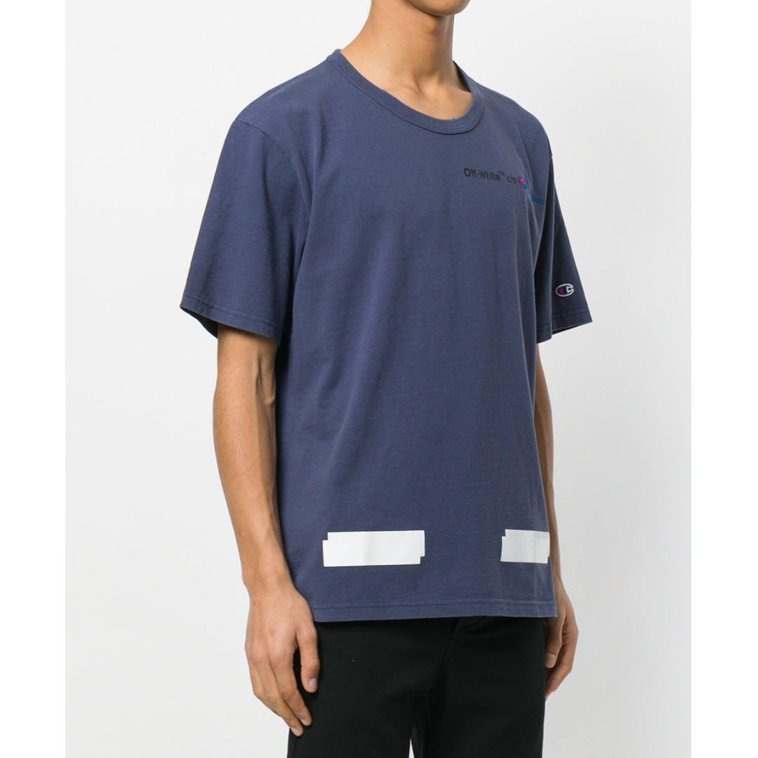 off white champion t-shirt