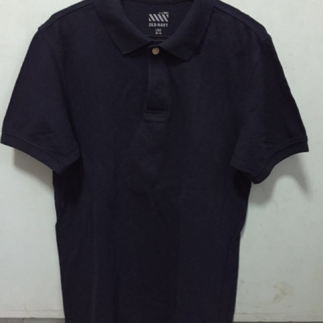 Old navy blue polo shirt