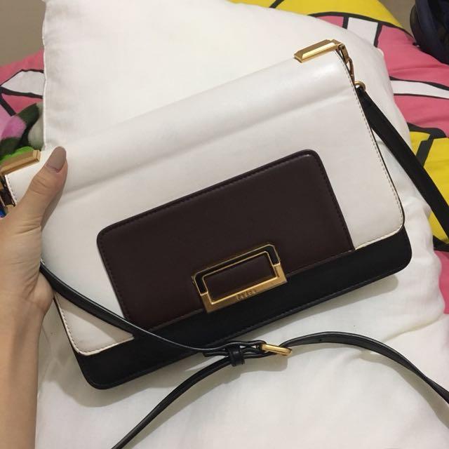 Pedro Crossbody Bag (Black White Gold Sling Bag)