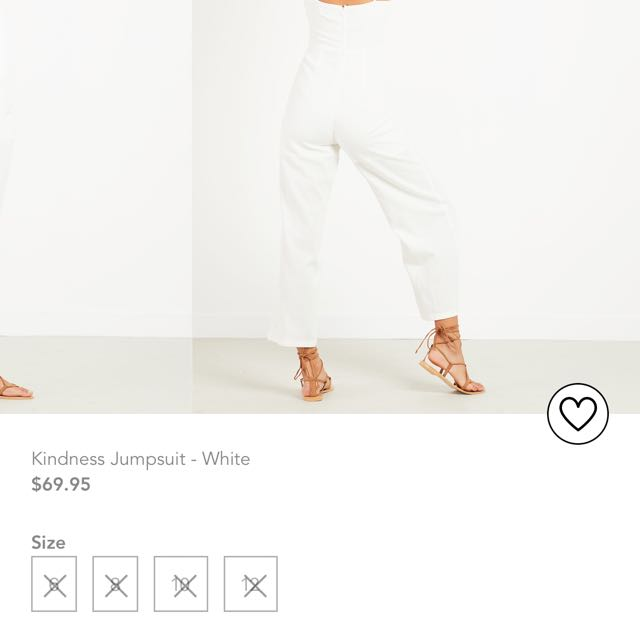 PEPPERMAYO / KINDNESS JUMPSUIT - WHITE