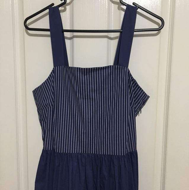 Piper navy maxi dress