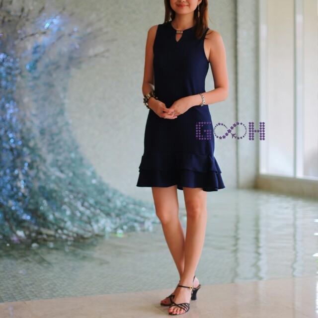 [Brand New] Plain Ruffled Dress