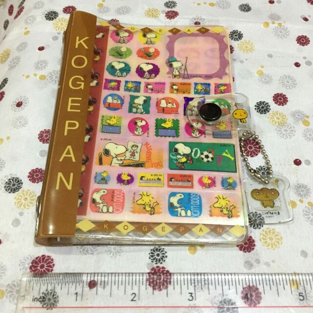 Pocket Planner Ring Binder with Snoopy Stickers