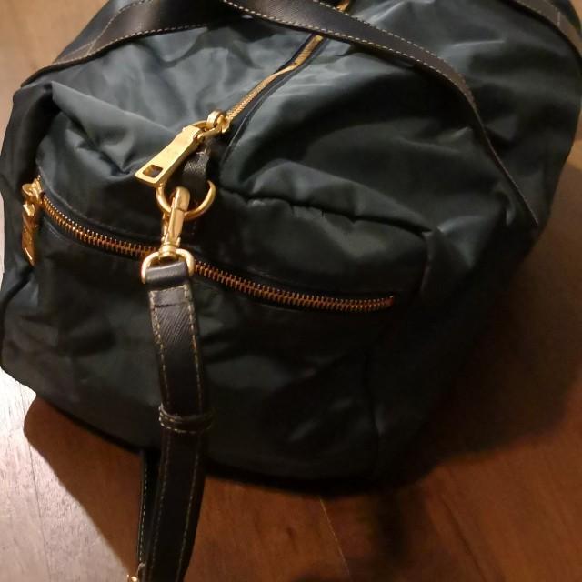 160bafbeb65e Prada small gym bag, Luxury, Bags & Wallets on Carousell