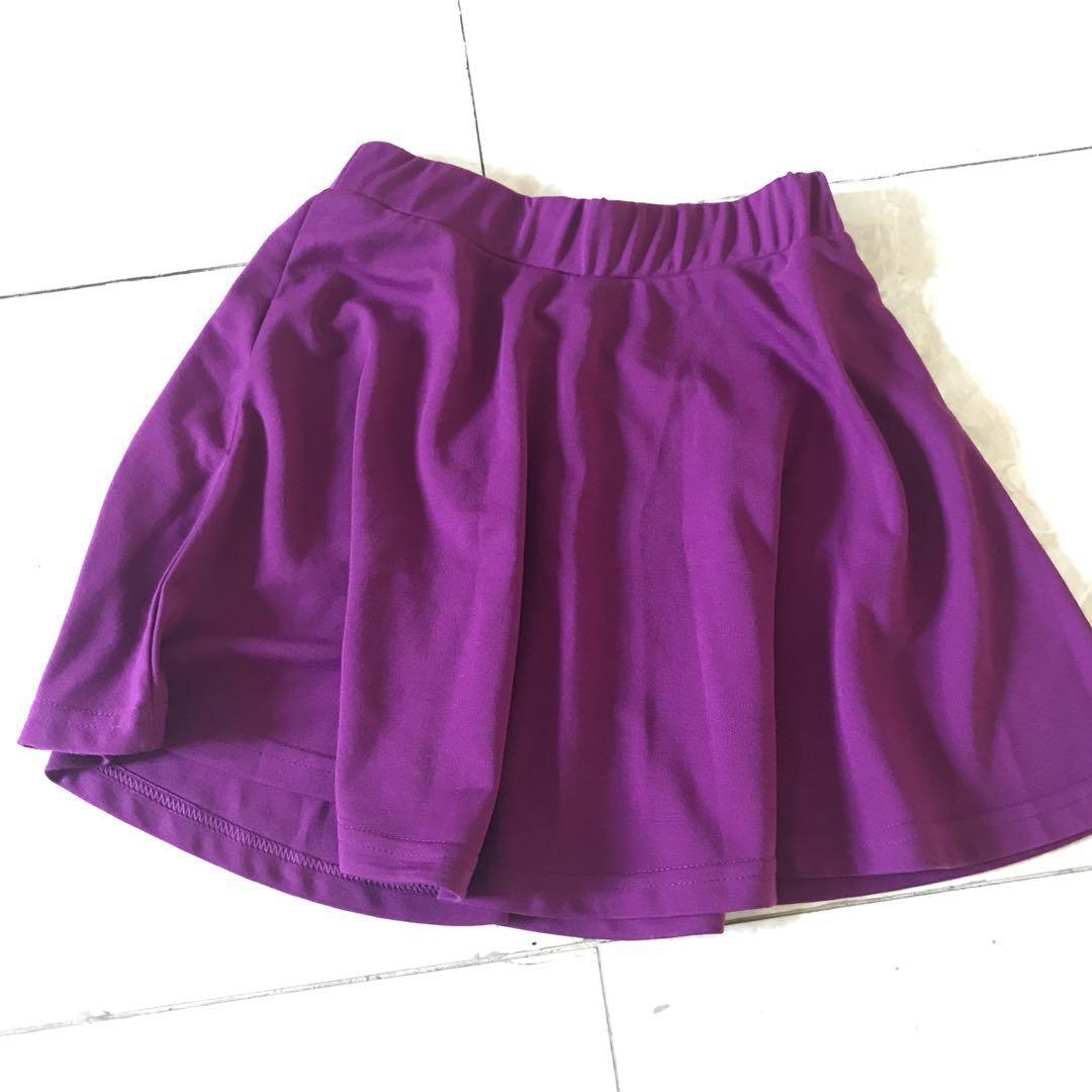 purple flare skirt