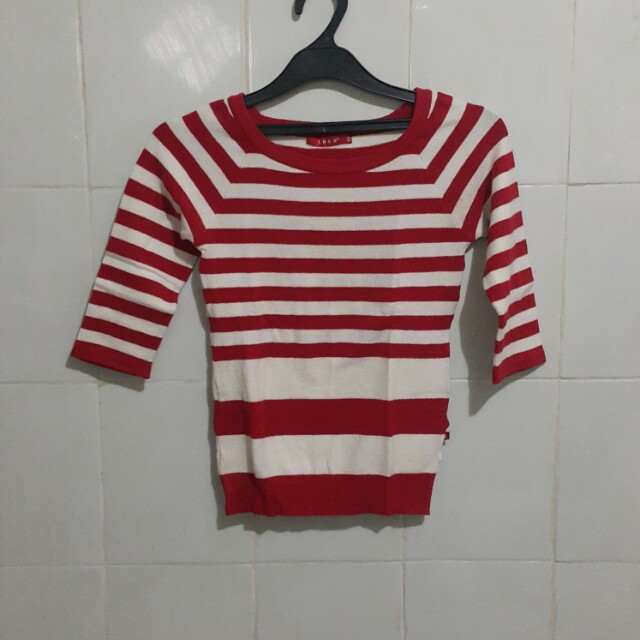 Red & white shirt