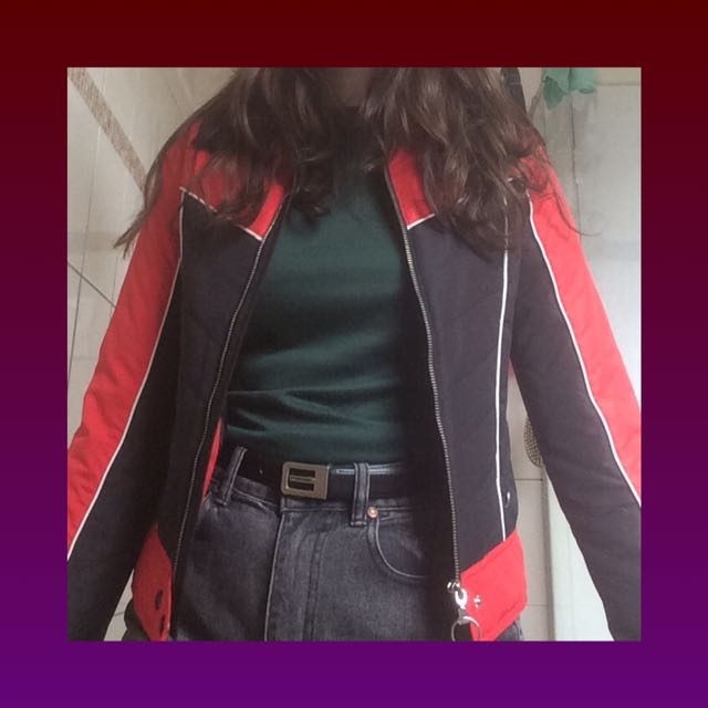 red and black jacket!