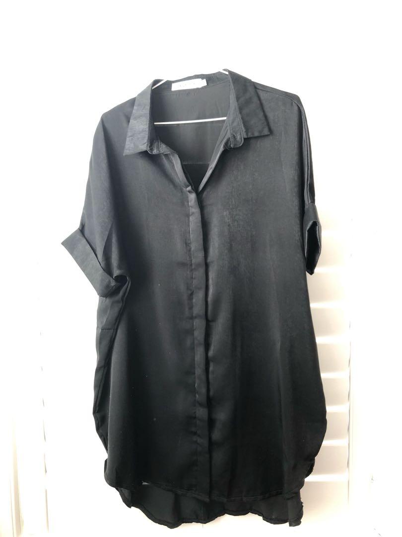Reverse shirt dress