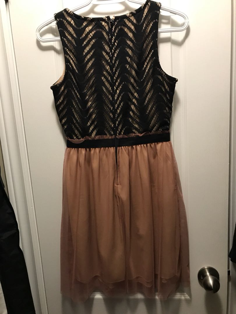 Rose Gold and Black dress