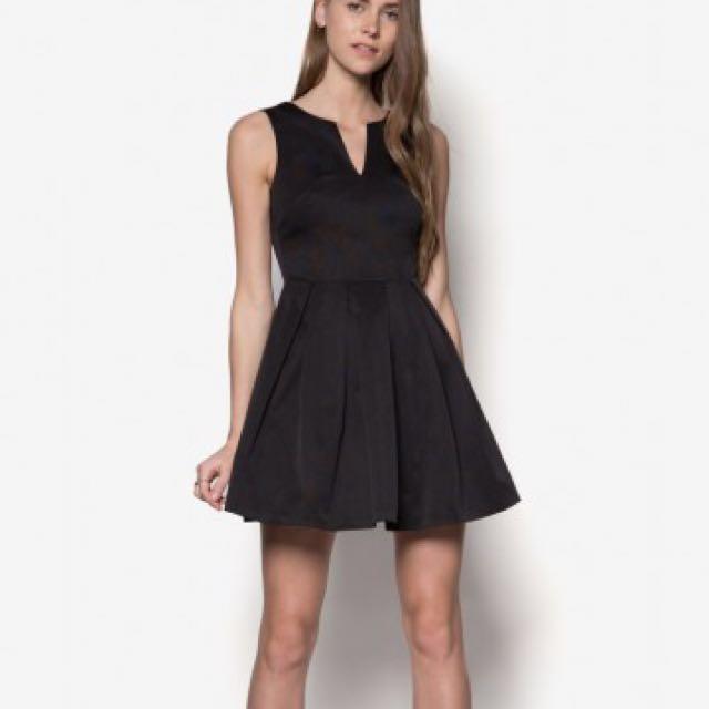 bc65312b95 rtp  55) ZALORA PREMIUM luxe fit   flare dress