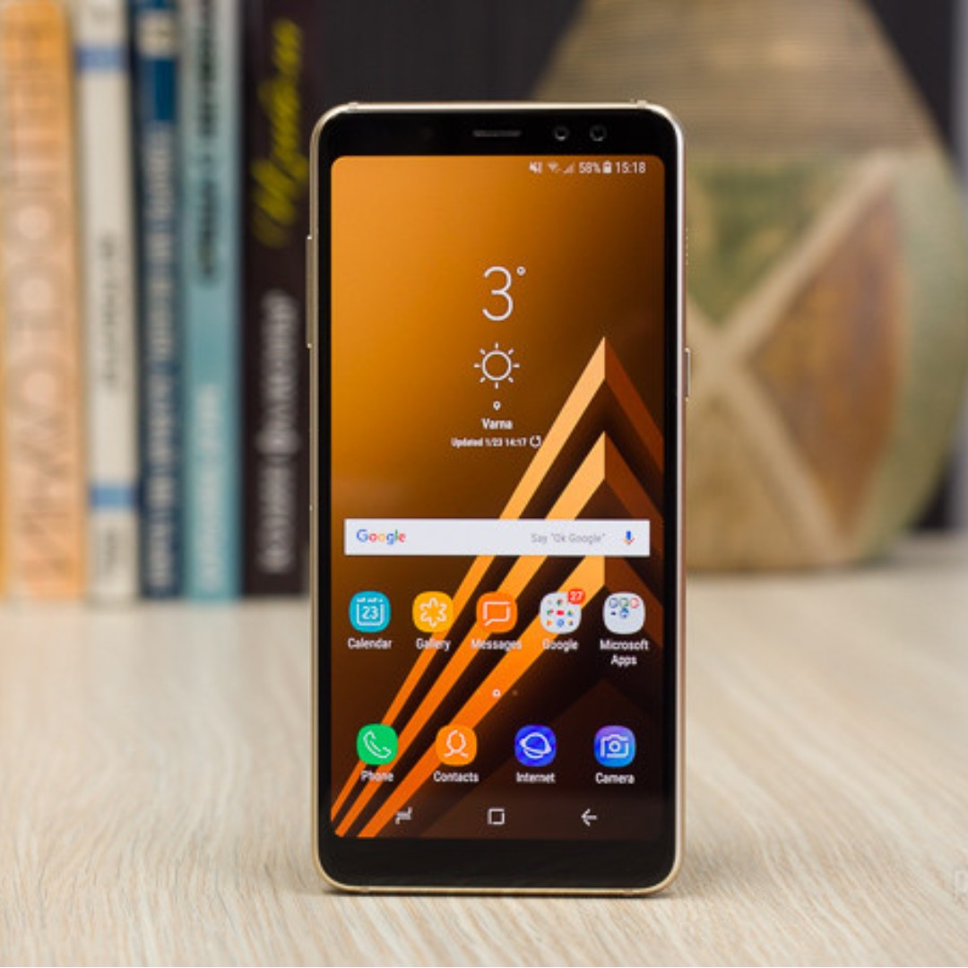 Samsung Galaxy A8 2018 Gold Dual Sim Mobile Phones Tablets On