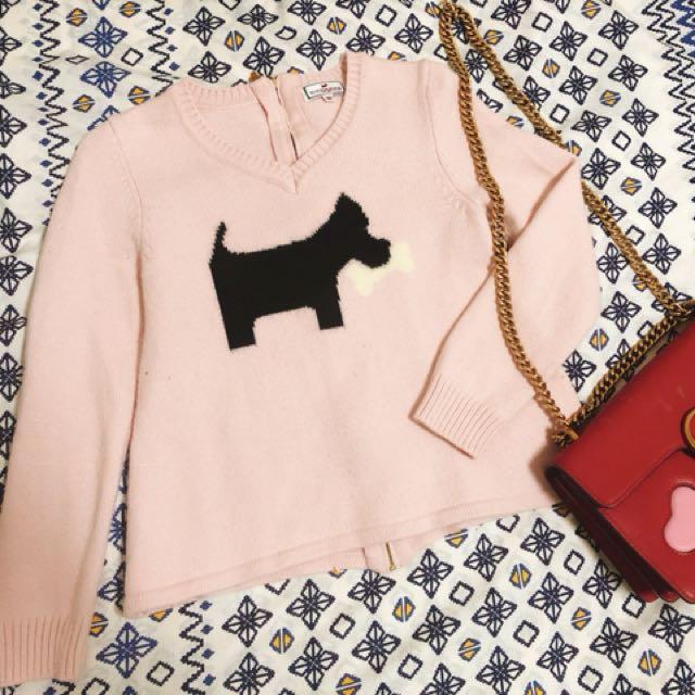 品牌Scottish house 粉色打狗針織毛衣❤️吊牌還在3980元