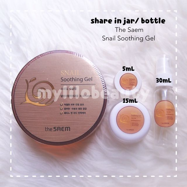 [SHARE IN JAR/ BOTTLE] The Saem Snail Soothing Gel