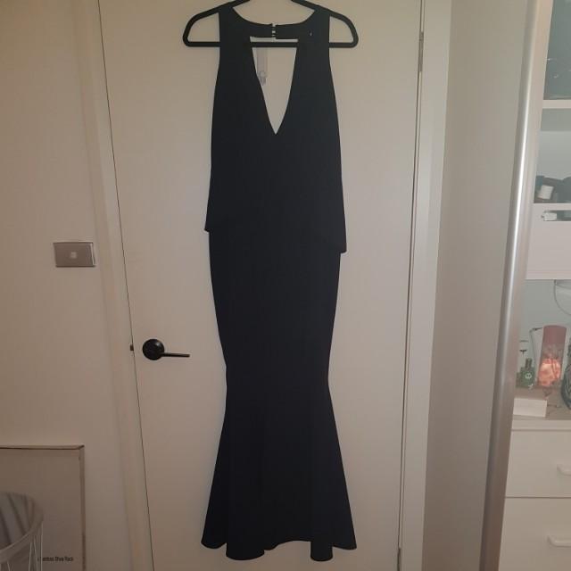 SHEIKE - V neck Peplum Maxi Dress