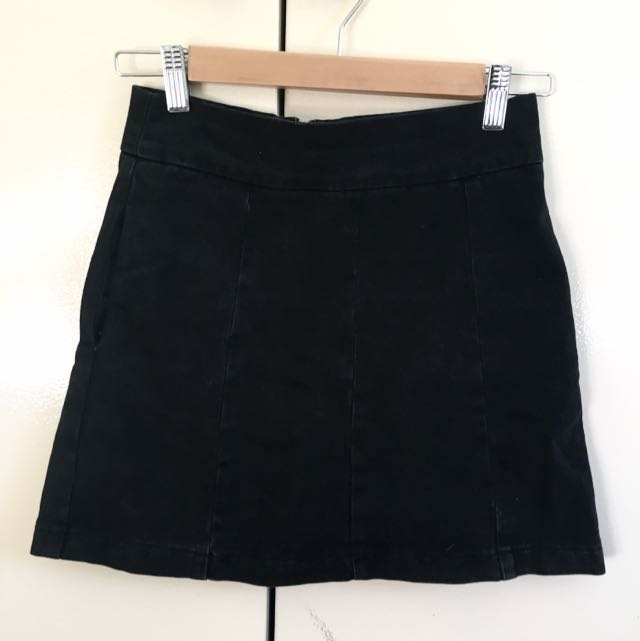 Size 6 Topshop Denim Mini Skirt