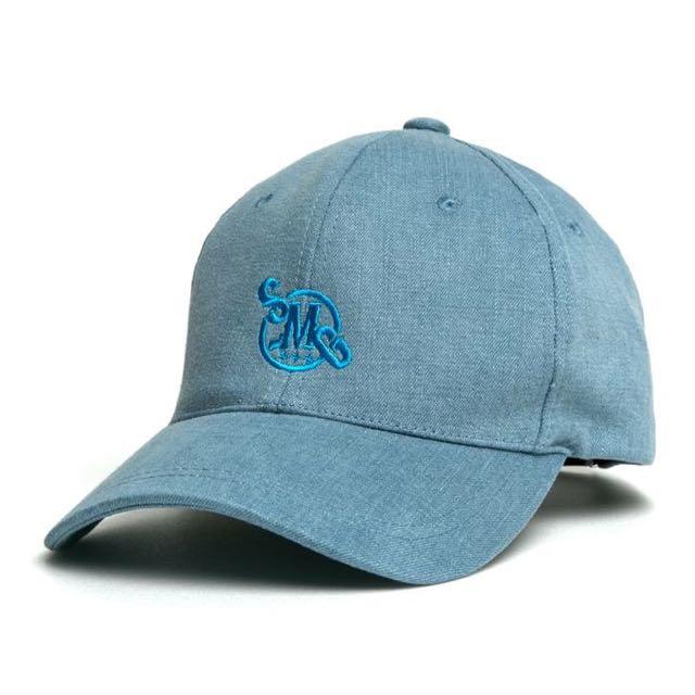 Smg水洗復古棒球帽(丹寧藍)