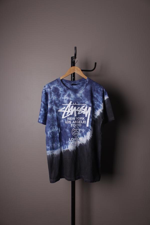 STUSSY World Tour Tye Dye Black Premium
