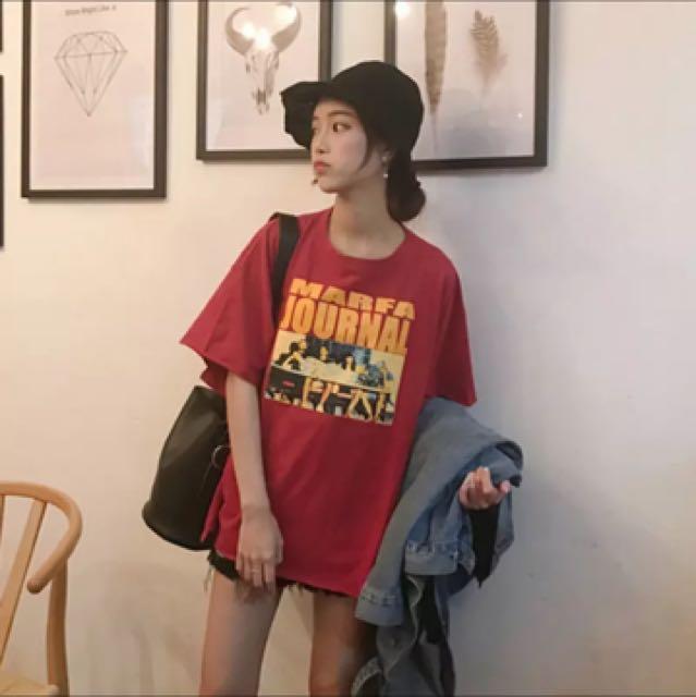 韓版字母印花短袖上衣T恤