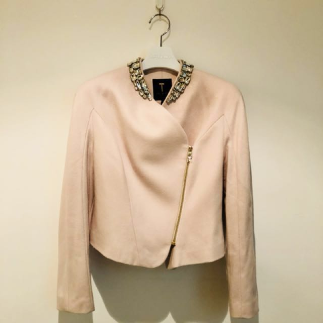 1a57dd154 Ted Baker Nude Pink Zip Jacket (Size 1)