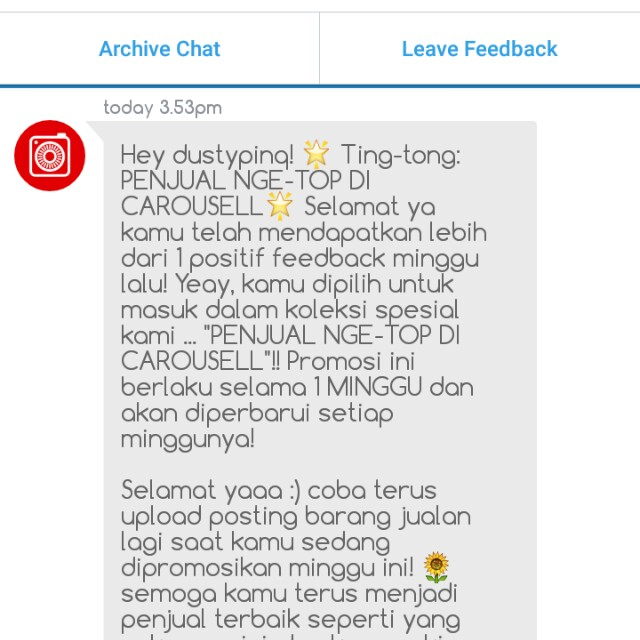 Thank you Carousell ❤❤