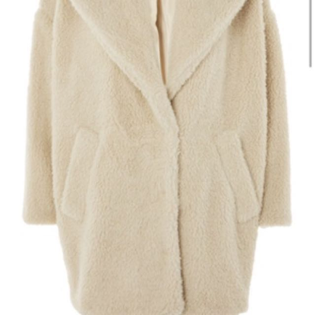 TOPSHOP COCOON JACKET SIZE 4 WORN ONCE