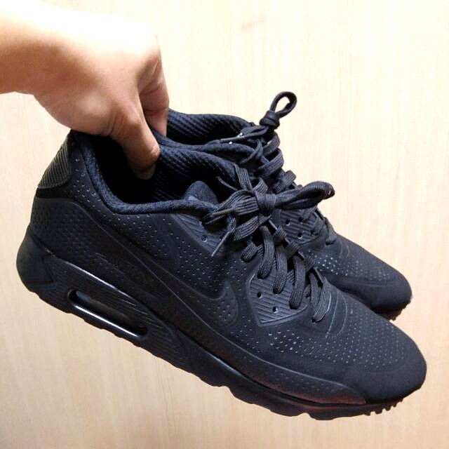 US9.5 Nike Air Max 90 Ultra Moire Triple Black , Men's