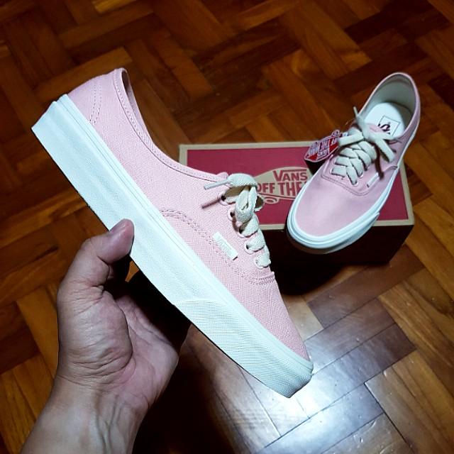 VANS Authentic Pink Herringbone Lace