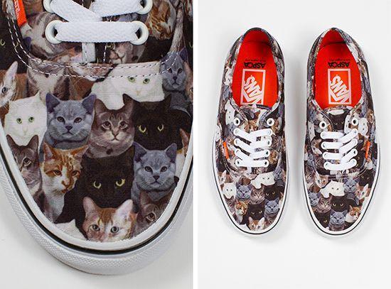 a487d8039a VANS Sneakers ASPCA Cats Kitten Print Canvas US 10