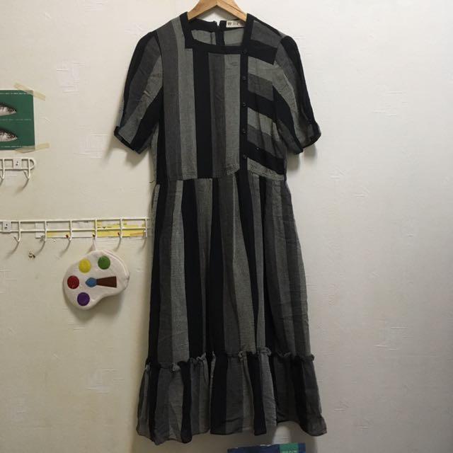 Vintage短袖古著洋裝