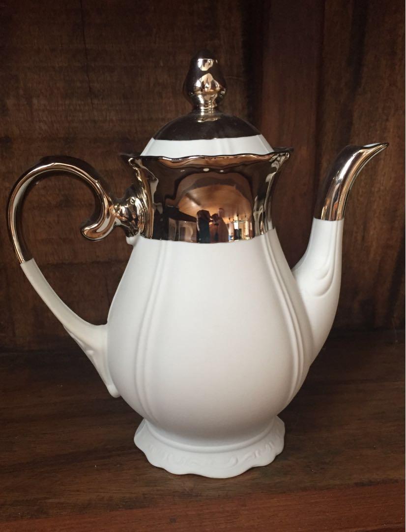 Vintage Tea Set dipped in Platinum!