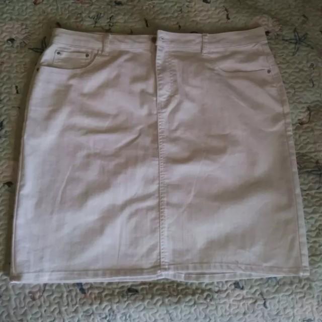 White jeans skirt (new)