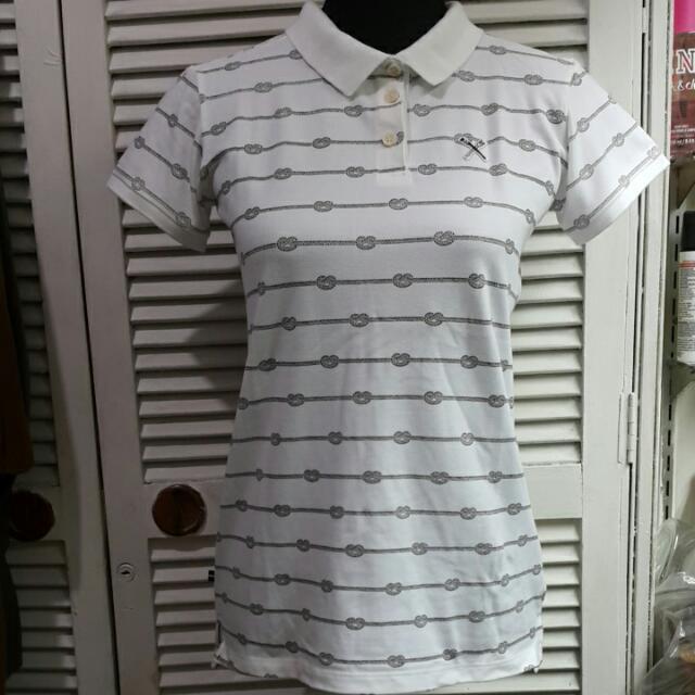 White Regatta Rope Print Short Sleeve Polo Shirt