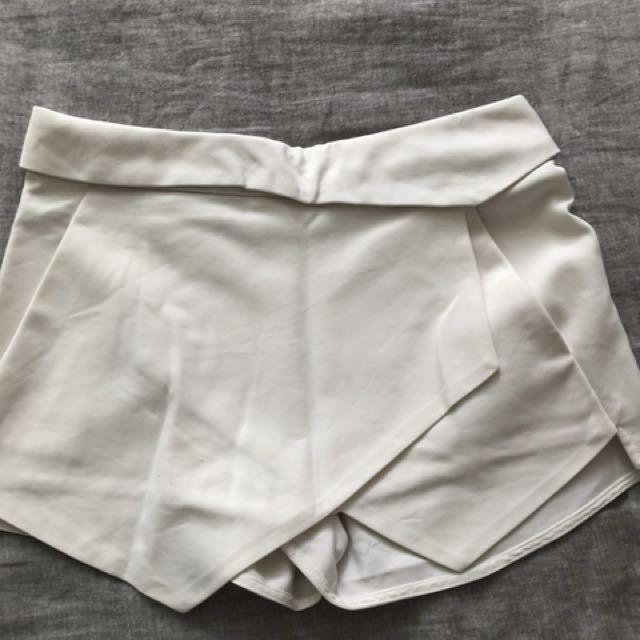 White Zara Skort
