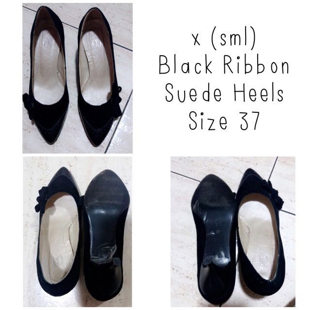 X SML Black Ribbon