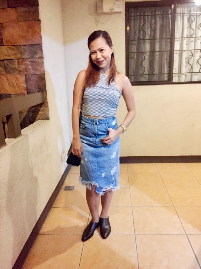 zara hwaisted skirt