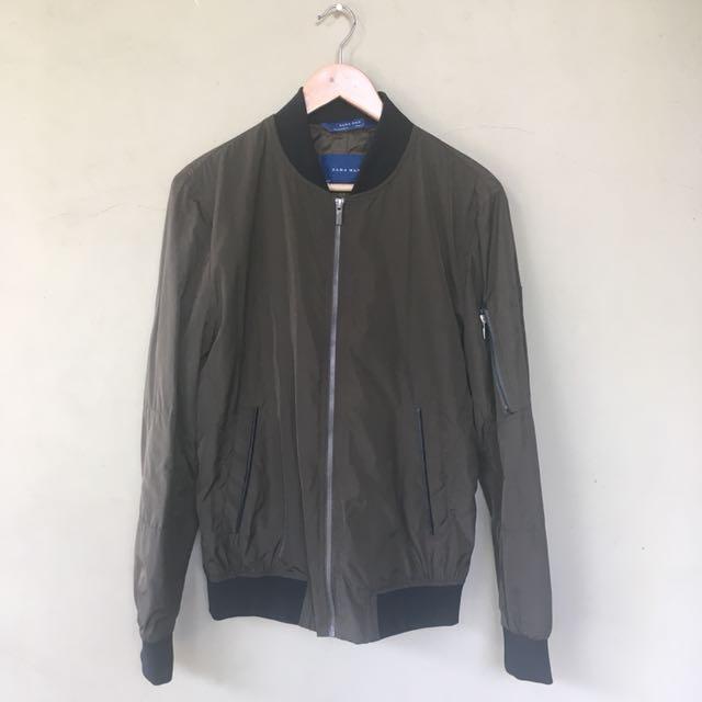 Zara Man Bomber Jacket Army