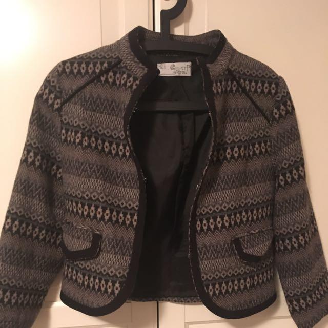 Zara TRF Crop Jacket Sz Med