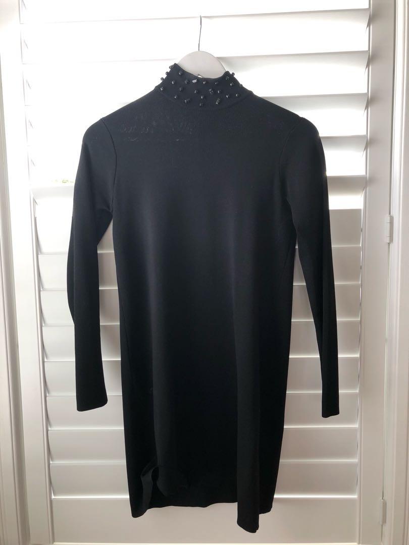 Zara turtle neck tight dress