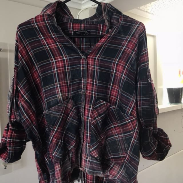Zara women's plaid top