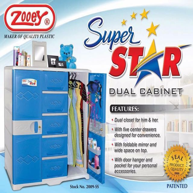 Zooey Super Star Dual Cabinet Home Furniture On Carousell