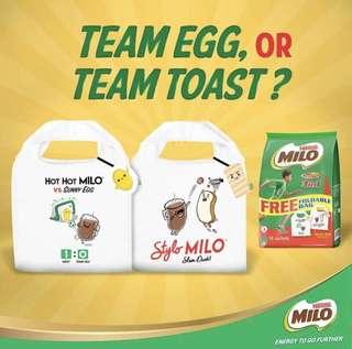 MILO Foldable Bag TEAM EGG