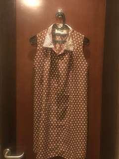 Dress polkadot coklat