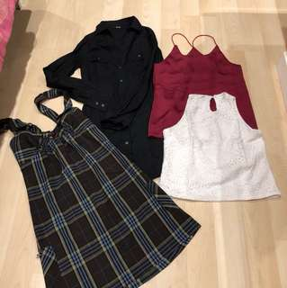 4 items top and dress