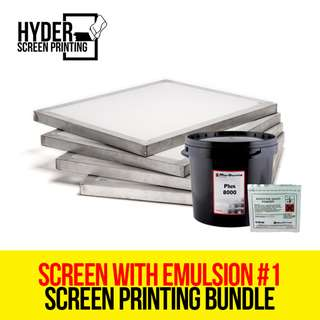 Silkscreen Printing - Screen with Emulsion Bundle