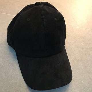 Black Corduroy baseball cap 黑色燈芯絨cap帽
