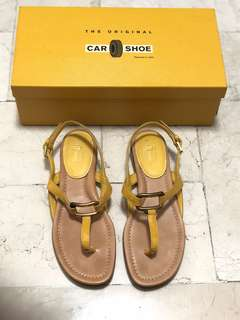 THE ORIGINAL CAR SHOE by PRADA Women's Thong Sandals in Mustard