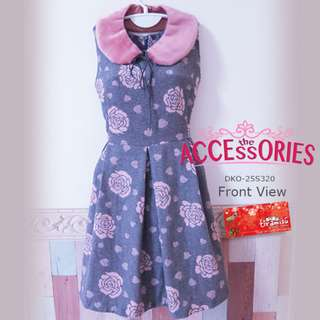 Winter Flower Dress - Clearance Sale
