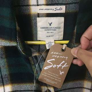 American Eagle Outfitters soft款格子襯衫