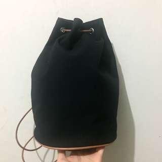 中古Hermes Vintage 深藍帆布 Backpack 非 Celine Prada Gucci LV Fendi Ferragamo