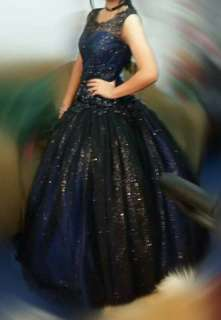 JS Prom Gown (Royal Blue & Black) for sale/rent